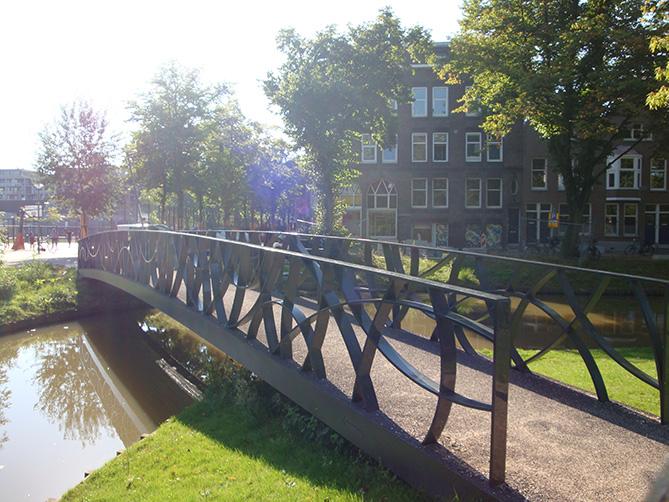 Infracore pedestrian bridge in Rotterdam, Netherlands
